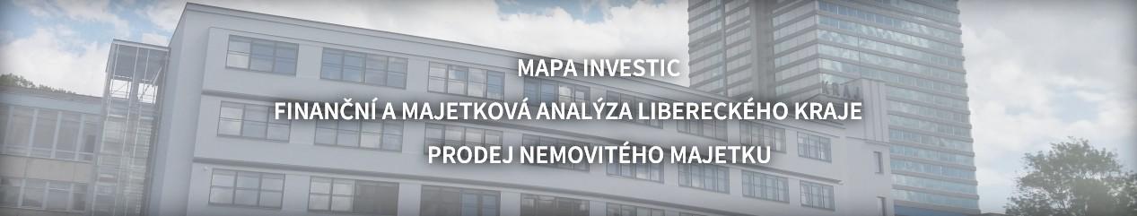 Rychlé odkazy - mapa investic, finanční a majetková analýza libereckého kraje, prodej nemovitého majetku